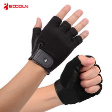 Boodun Breathable Sport Gym Gloves with Palm Leather Half Finger Crossfit Fitness Gloves Weight Lifting Barbell Accessories