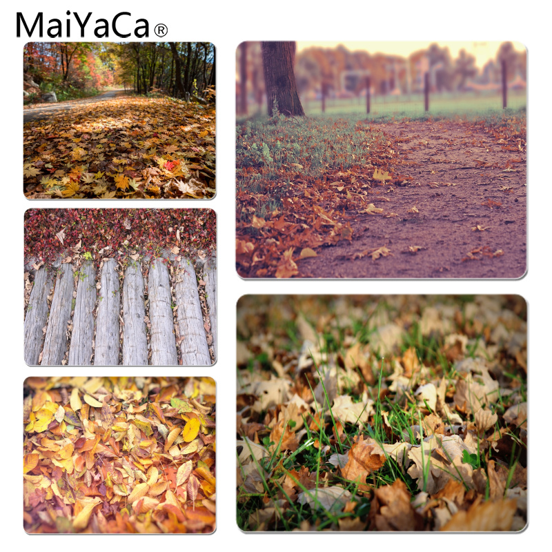 MaiYaCa Sprinkle the path of the leaves Customized laptop Gaming mouse pad Size for 18X22CM Speed Version Gaming Mousepads
