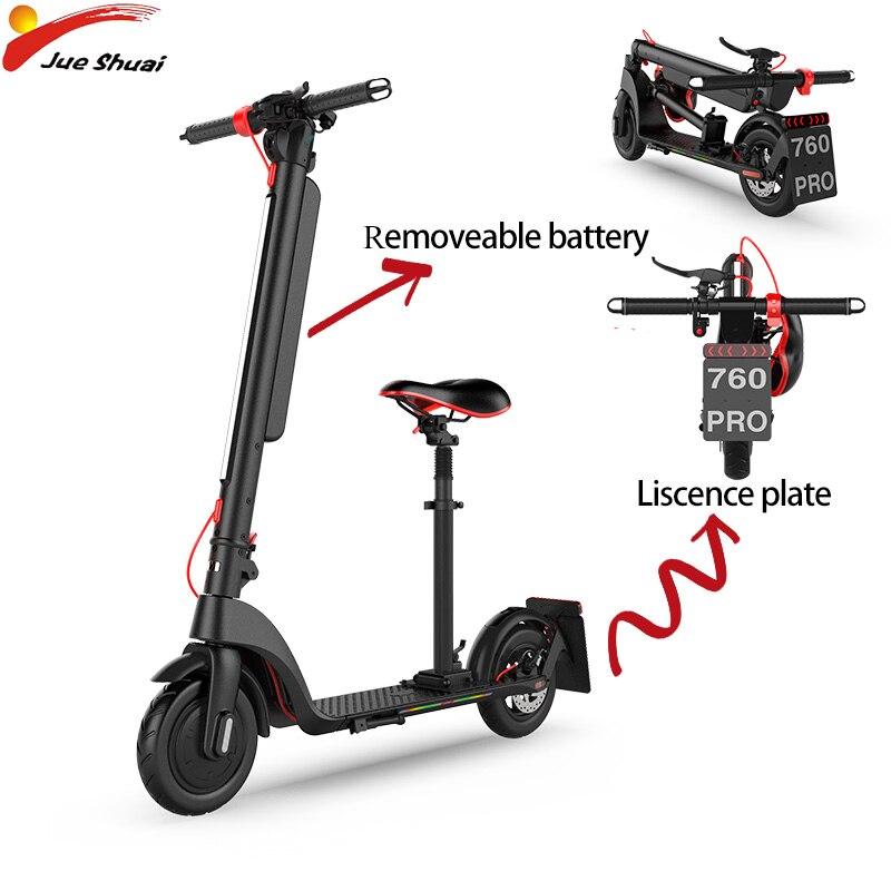 36 V 350 W Scooter électrique EU Liscence plaque adultes pliable batterie amovible Electrico 8.5 ''moteur roue Hoverboad Skateboard