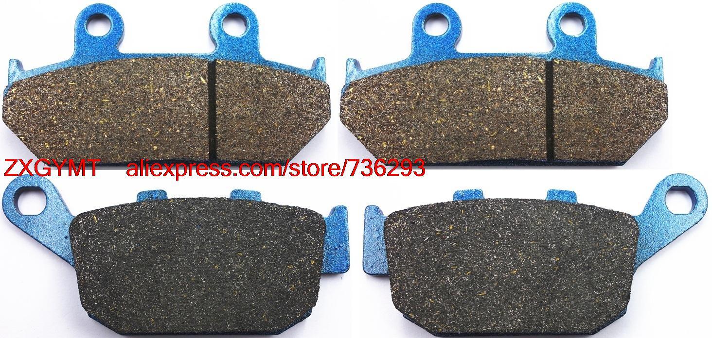 Motorcycle Resin Disc Brake Pads Set fit HONDA NX650 NX 650 Dominator J-K 1988 - 1992 motorcycle front and rear brake pads for honda nx 500 nx500 nx650 j k l m dominator 1988 1991 black brake disc pad