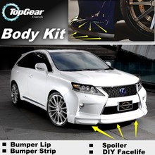 Bumper Lip Deflector Lips For Lexus RX 270 300 350 400 450h Facelift 2012~Onwork Front Spoiler Skirt For Car Tuning / Body Kit(China)