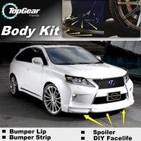 Bumper Lip Deflector Lips For Lexus RX 270 300 350 400 450h Facelift 2012~Onwork Front Spoiler Skirt For Car Tuning / Body Kit