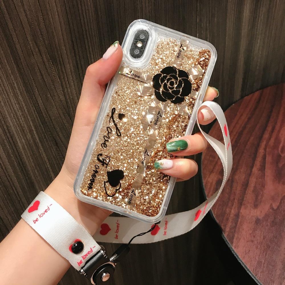 Cellphones & Telecommunications Phone Bags & Cases Bausine Luxury Glitter Liquid Sand App Logo Case For Iphone 4 4s 5 5s Se 6 6s 7 8 Plus X 10 Transparent Clear Hard Cover