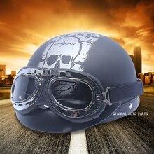 Skull motorcycle helmet motocross helmet vintage cascos para moto capacetes de motociclista kask motocyklowy motorhelm