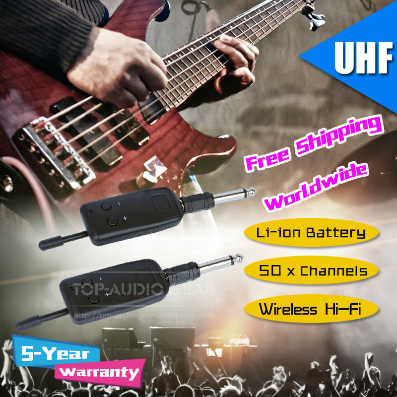 free shipping wireless electric guitar bass piano violin keyboard microphone transmitter. Black Bedroom Furniture Sets. Home Design Ideas