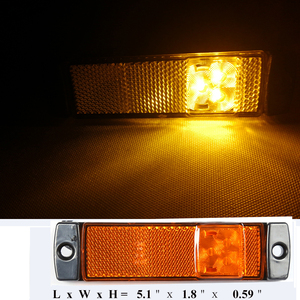 Image 5 - 2 CHIẾC AOHEWEI 12 V 24 V LED hổ phách bên cột mốc đèn báo vị trí đèn Led Ligh đèn ký ánh sáng cho xe kéo LED đuôi đèn