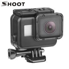Снимать для использования на глубине до 45 м подводный Водонепроницаемый чехол для экшн-камеры GoPro Hero 7 6 5 Черный Защитный чехол для подводной съемки Корпус крепление для спортивной экшн-камеры Go Pro 7 6 5 аксессуар