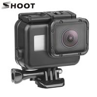 Снимать для использования на глубине до 45 м подводный Водонепроницаемый чехол для спортивной экшн-камеры Go Pro Hero 7 6 5 Black Label Дайвинг Pro tective кр...