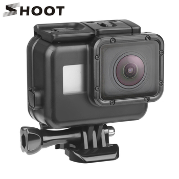 SHOOT 45m Underwater Waterproof Case for GoPro Hero 7 6 5 Black Diving Protective Cover Housing Mount for Go Pro 7 6 5 Accessory diving waterproof case underwater housing case mount camera accessories for gopro hero 6 5 black action