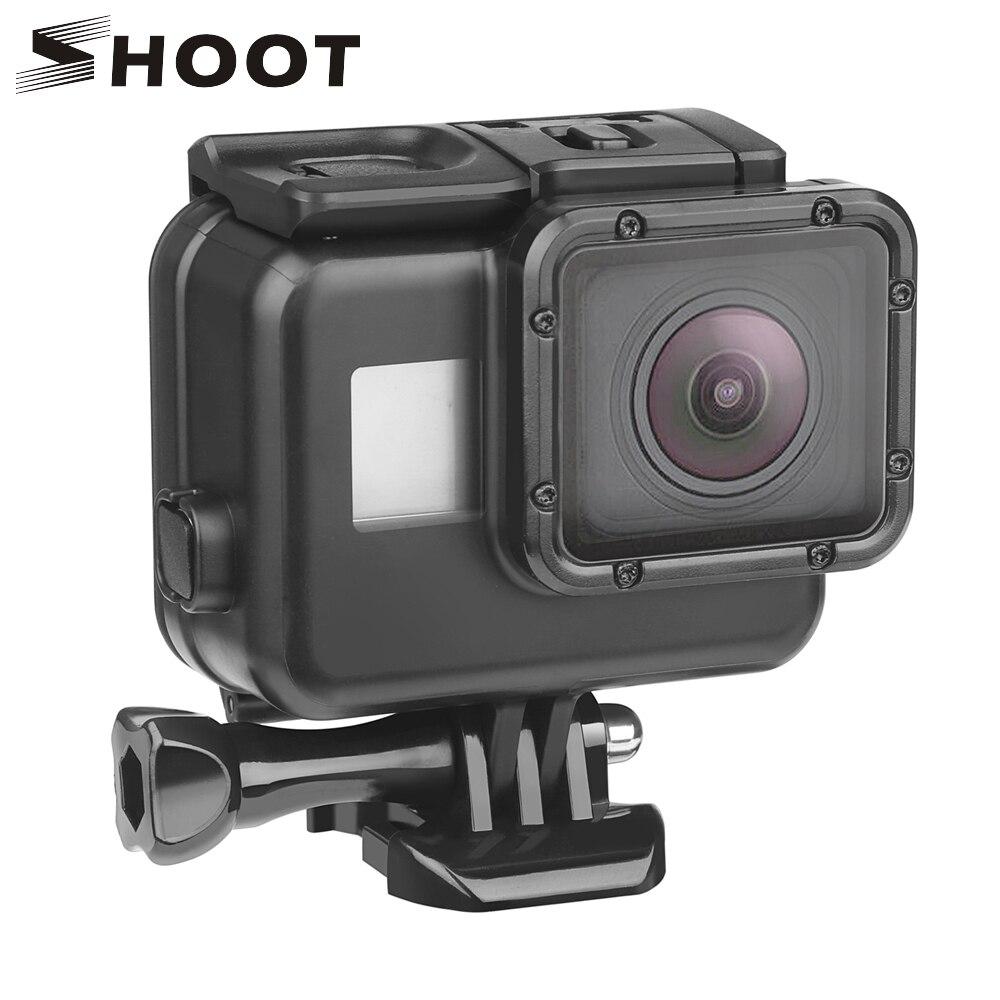 SHOOT 45m boîtier étanche sous-marin pour GoPro Hero 7 6 5 noir plongée housse de protection boîtier de montage pour Go Pro 7 6 5 accessoire