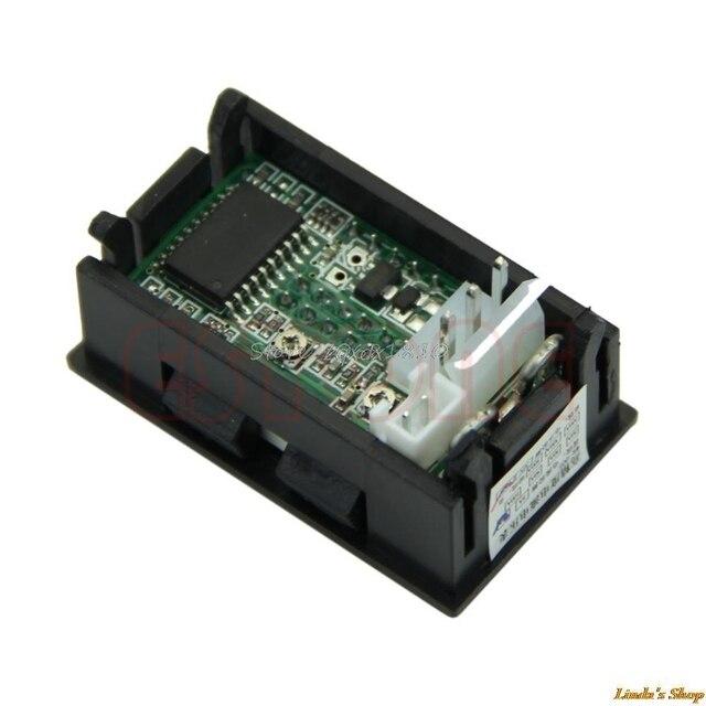 New LED Amp Dual Digital Volt Meter Gauge DC 100V 10A Voltmeter Ammeter Blue + Red Consumer Electronics 1