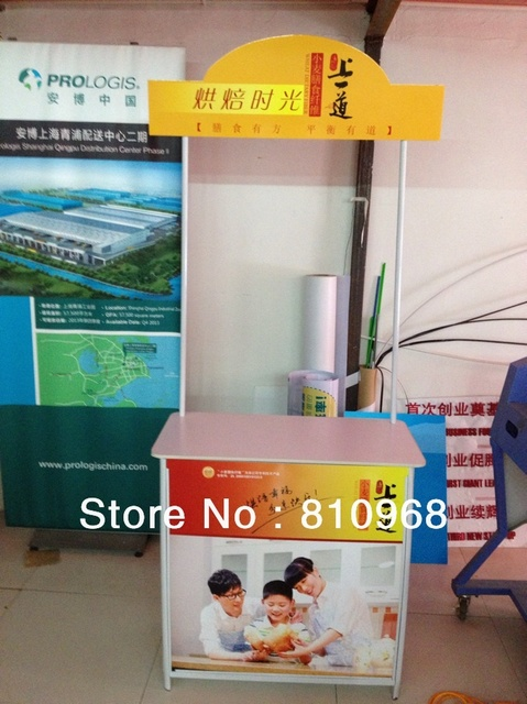Promotion Display Table Advertising Display Table Free Printing - Restaurant table advertising
