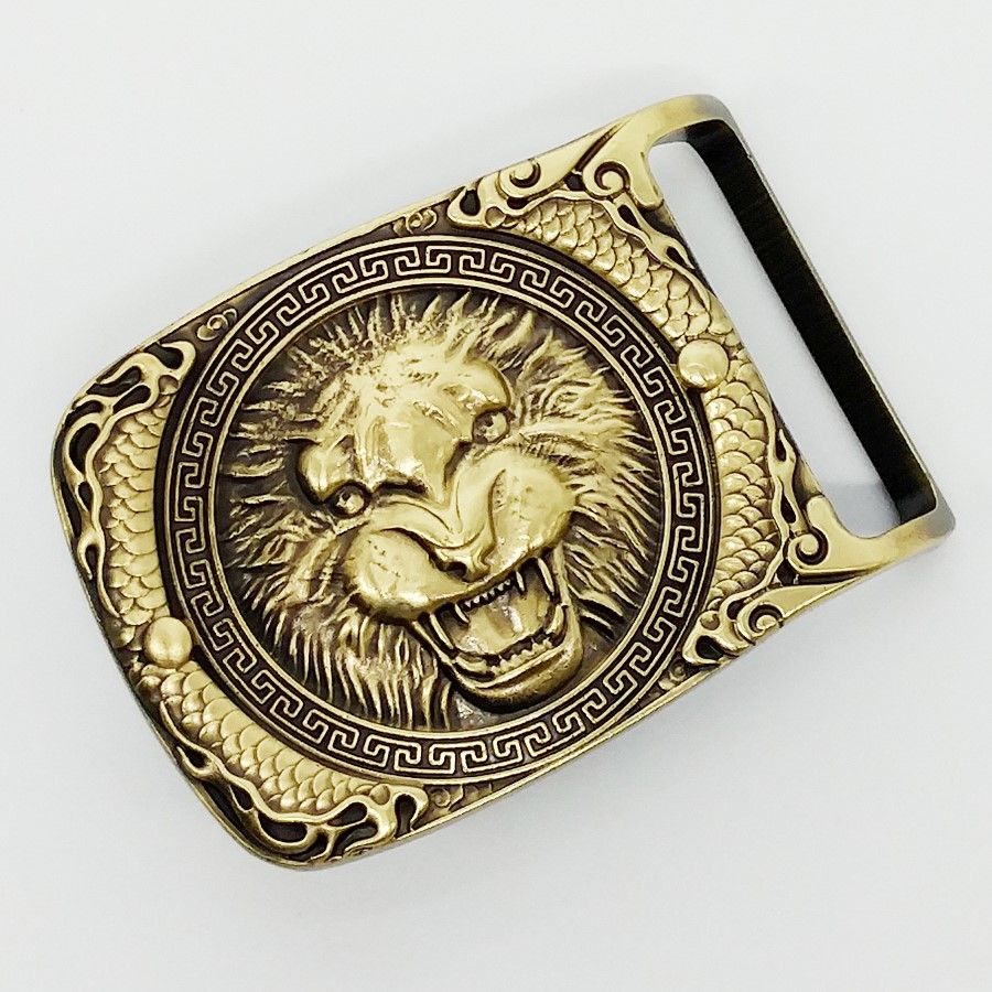 2017 Fashion High-end Brand Belt Buckles Unique lion Solid copper New Cool Buckles Western Mens Vintage