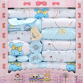 baby hold newborn gift sets baby girls clothing sets autumn / winter 100% cotton thick warm long sleeve infant underwear 21Piece