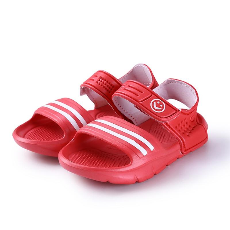 2017 Elsa Shoes Rubber Real New Plain Ankle Strap Unisex Sandalias - Zapatos de niños - foto 6