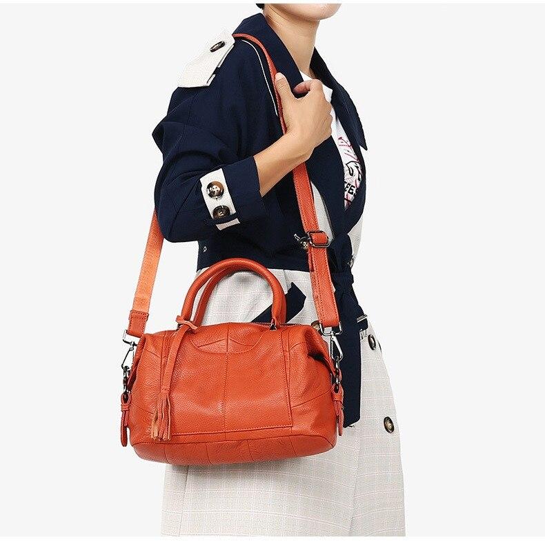 MJ Women Genuine Leather Handbag Female Real Cow Leather Tote Bag Ladies Large Capacity Shoulder Bag Crossbody Bags for Women (10)