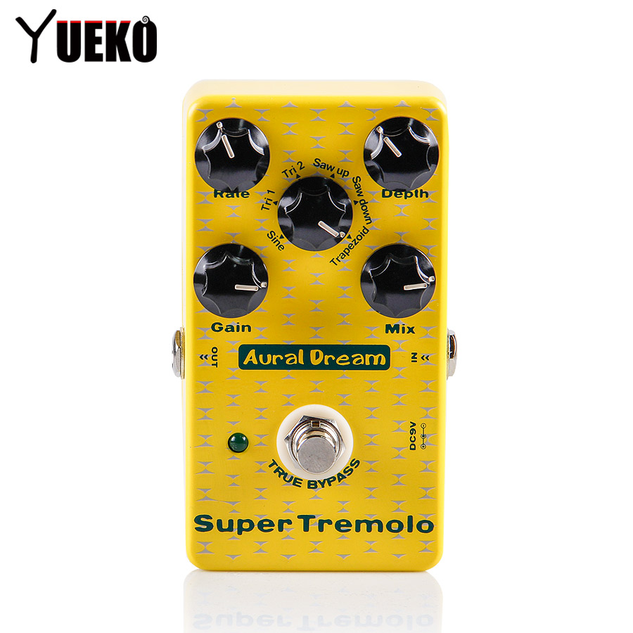 Aural Dream Super Tremolo Guitar Effects Pedal with Six Modulation Waveforms Effect pedal Guitar Accessories aural dream super flanger digital pedal with 18 flanger effects guitar pedal