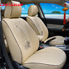 CARTAILOR Car Seats for Toyota Venza Seat Covers Set PU leather Car Seat Cover Protectors Black Cover Seat Interior Accessories