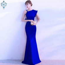 Ameision New Elegant Evening Dress Mermaid Sweet Formal Prom Party Banquet Gown Vestido De Noiva Simple Women Long