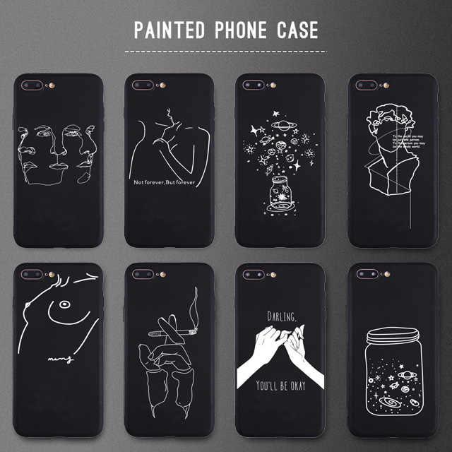 Desain Kreatif Seksi Gadis Lembut Silikon Case untuk iPhone 5 S SE X Ponsel Case untuk iPhone 6 S 6 7 8 Plus X Max XR 11Pro Case Matte