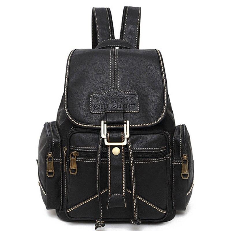 2015 Woman Backpacks School Bags High Quality PU Casual Bags Ladies Vintage Women Leather Backpack