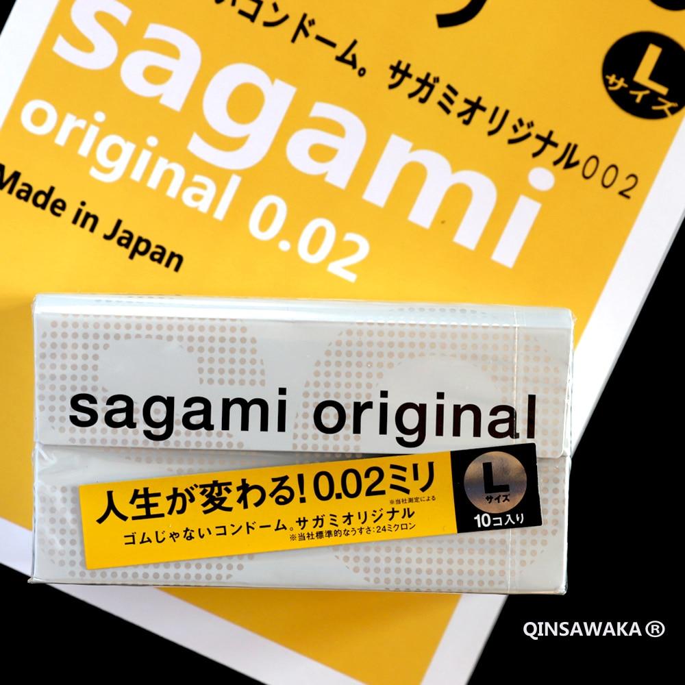 Qinsawaka select Made in Japan 10pc 0.02 super thin like not wearing SAGAMI ORIGINAL condoms NO Latex Allergy Polyurethan sex