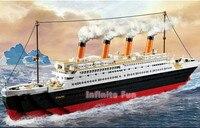 Sluban Building Blocks Toy Cruise Ship RMS Titanic Ship Boat 3D Model Educational Gift Toy For