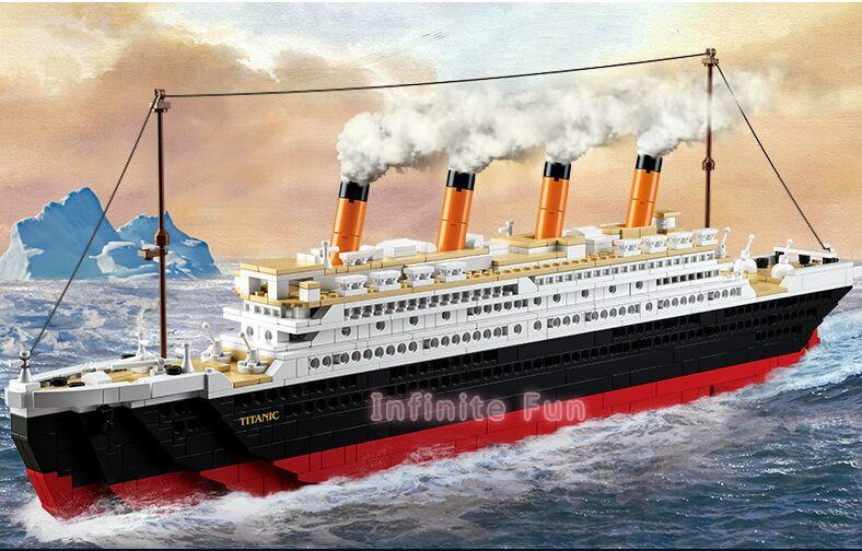 Sluban Building Blocks Toy Cruise Ship RMS Titanic Ship Boat 3D Model Educational Gift Toy for Children Compatible legoe 1021PCS цены