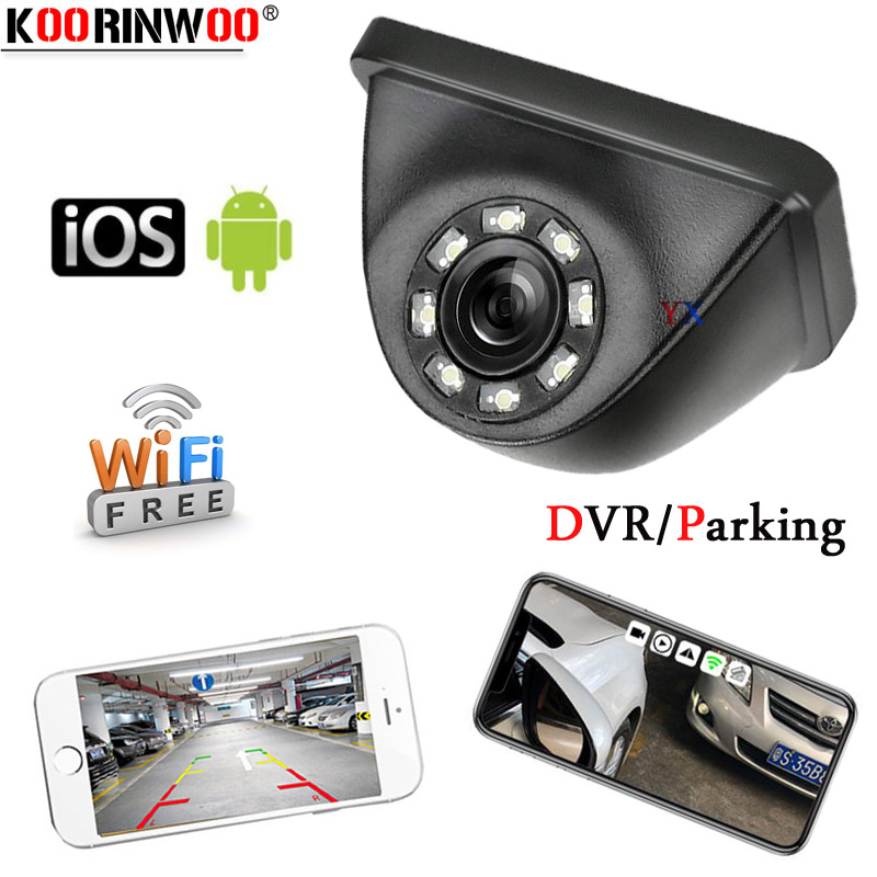 Koorinwoo WIFI Parking Car Camera Night Vision 8 Trunk Car Front Rear View Camera Side Cam