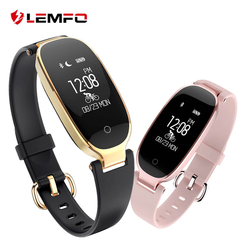 LEMFO S3 Smart Wristbands Fitness pulsera Monitor de ritmo cardíaco Fitness pulsera banda regalo para dama para IOS teléfono Android