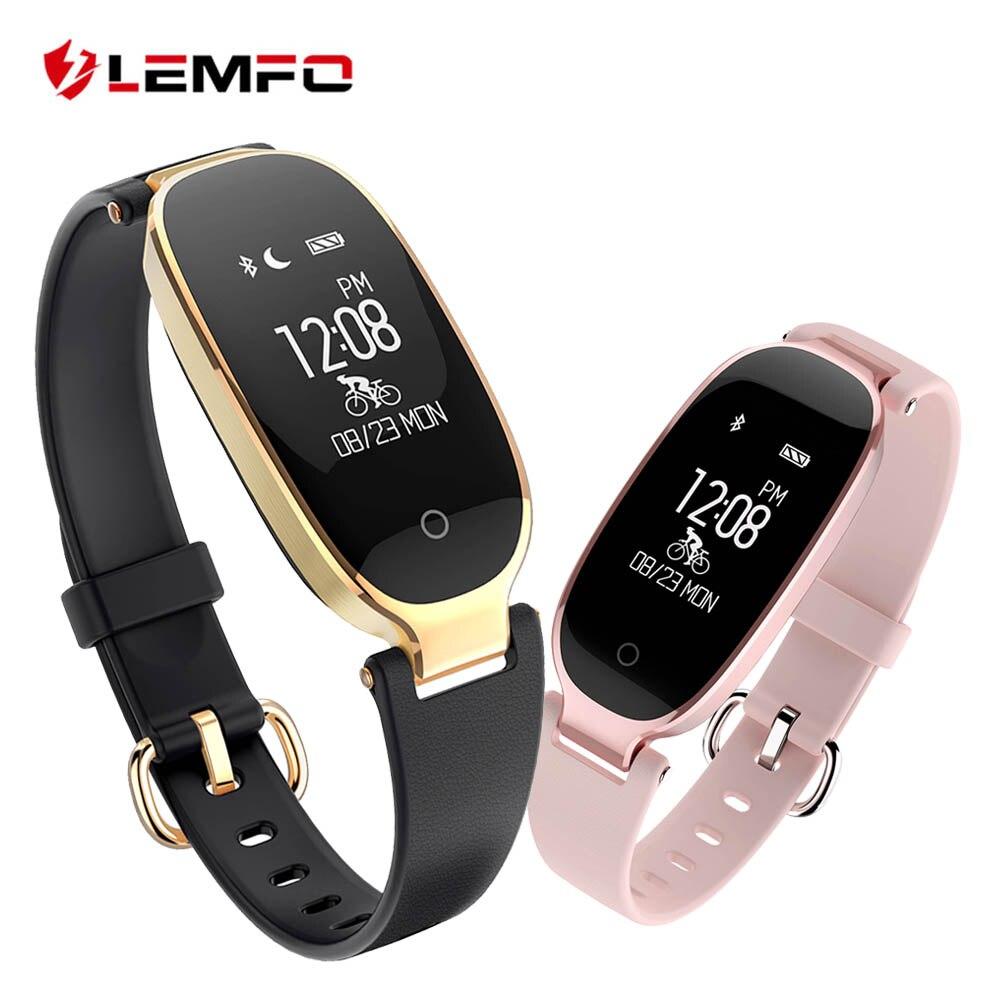 LEMFO S3 Inteligente Pulseiras Pulseira De Fitness Heart Rate Monitor de Fitness Banda Pulseira Presente para Senhora para IOS Android Phone