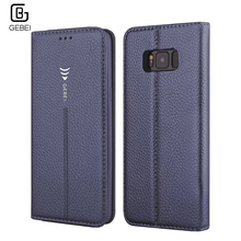 S8 Case Original GEBEI Flip Leather Wallet Card Slot Magnet Stand Cover for Samsung Galaxy S8 Plus S7 Edge S 8 S8+ S8Plus S7edge