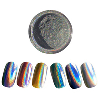 Blingbling 1 Box Rainbow Pigment Powder Nail Art Decoration Glitter Duochrome Holographic Rainbow Unicorn Powder Hologram