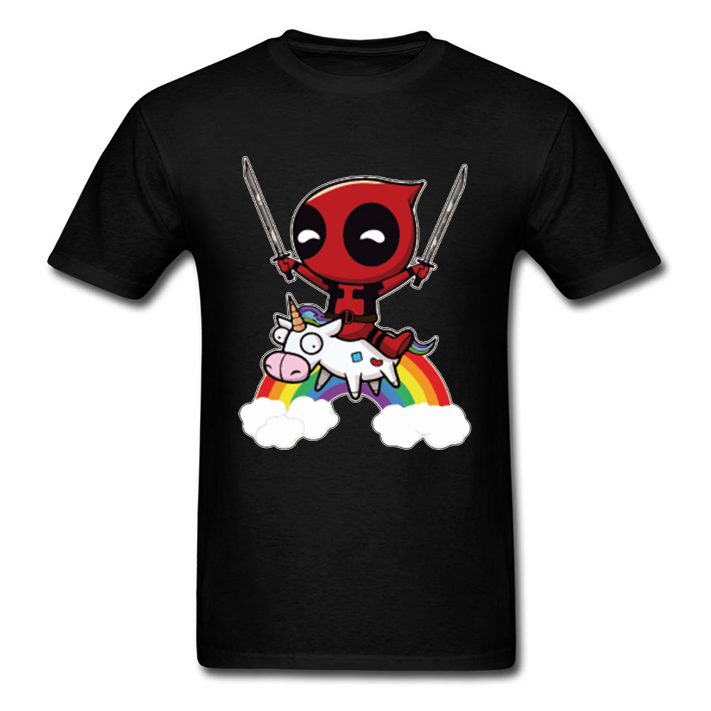 Deadpool   T     Shirt   Men Marvel Designer   T  -  shirt   Avengers Rainbow Tops Tees Adult Mens Tshirt Black White Funny Clothing Cowboy Tees