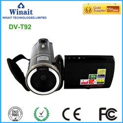 Freeshipping 12mp 8X digital zoom digital video camera HDV-T92 720p 32GB memory 3.0 LCD screen digital camcorder