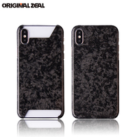 2018 Real Carbon Fiber Phone Case Luxury Marbling Roadster Racing Car Style Case For IPhone X