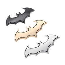 Car 3D Metal Stickers Personality Bat Mark Scratch Modified Body Funny Styling Batman Badge Emblem