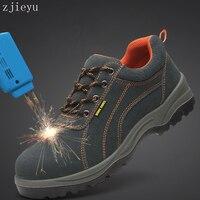 Męska wentylacji buty pracy, bot Stali głowy stali podeszwa buta bezpieczeństwa anti smashing buty odporne na Przebicie boty