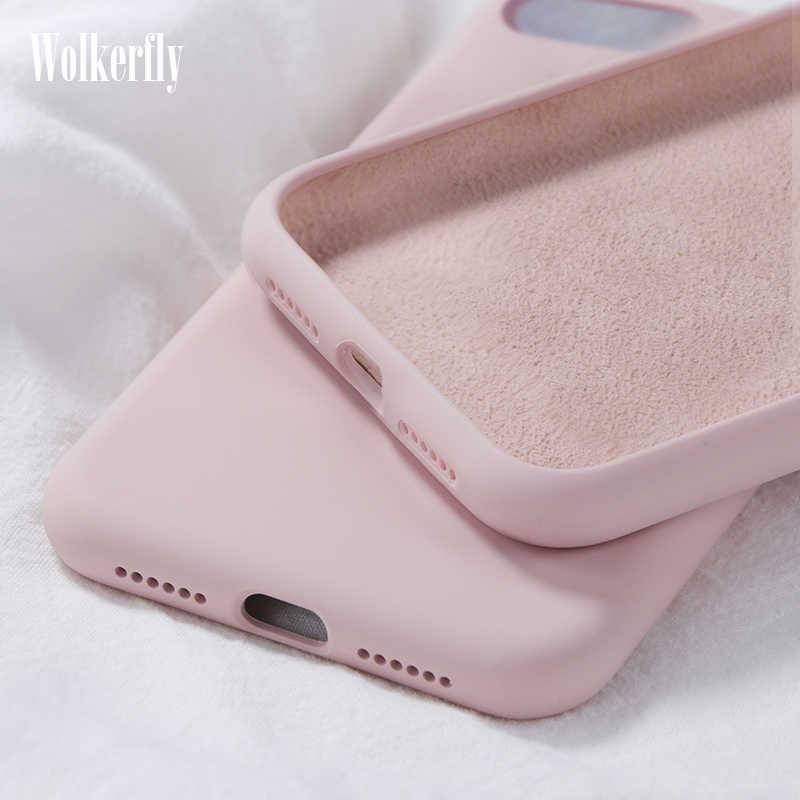 Soft Liquid Silicone Case For Samsung Galaxy A10 A20 A30 A40 A50 A70 M10 M20 M30 J4 J6 J8 A6 2018 Note8 9 S8 S9 S10 Plus S10e