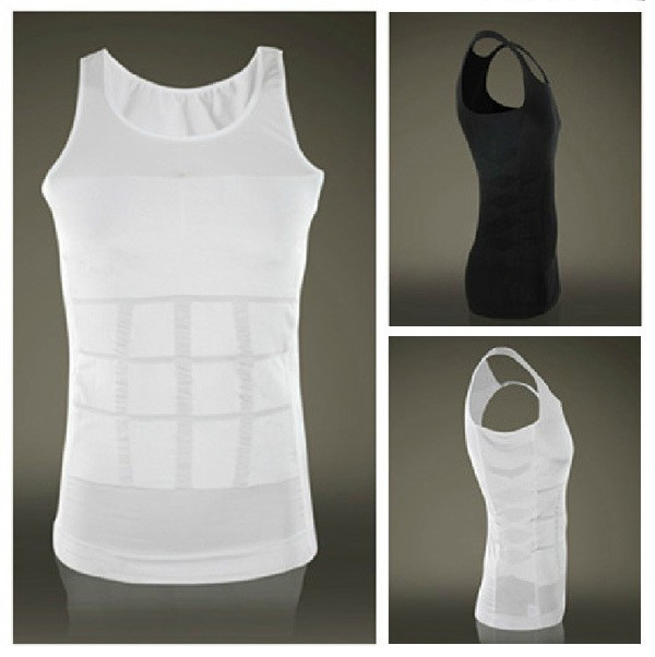 Hot sales Men Shaper Vest Body Slimming Tummy Belly Waist Girdle Shirt Shapewear Underwear 5