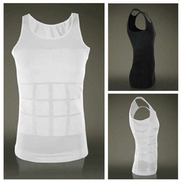 Hot sales Men Shaper Vest Body Slimming Tummy Belly Waist Girdle Shirt Shapewear Underwear 5