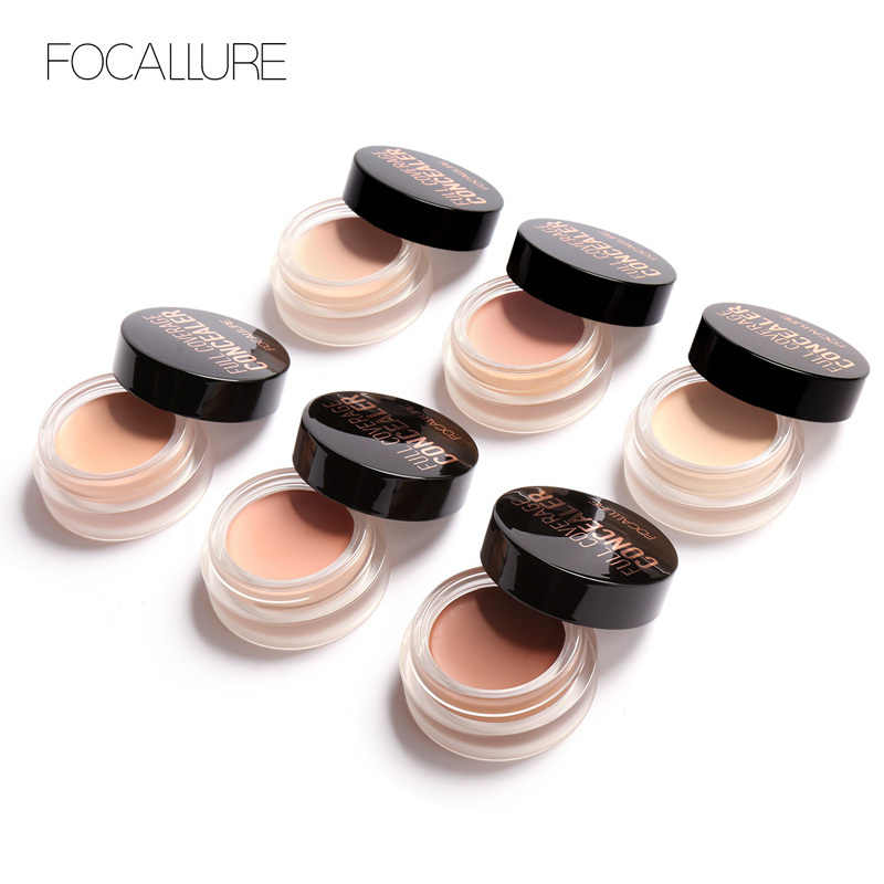 Focallure Baru Produk Tahan Air Concealer Cream Wajah Mata Tahan Lama Makeup Foundation Base Cream