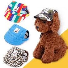 Лидер продаж, бейсболка для собак и кошек, милая Повседневная хлопковая бейсболка для чихуахуа, йоркширского козырька, Кепка с отверстиями для ушей, товары для домашних животных, 8 цветов