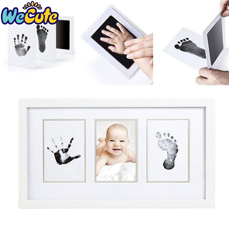 Wecute Baby Handprint Footprint Non-Toxic Infant Souvenirs Casting Clay Toys Gift Newborn Imprint Hand Inkpad Watermark