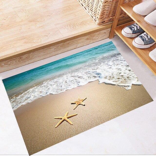 3d Dimensionale Seestern Strand Welle Boden Aufkleber Wasserdichte