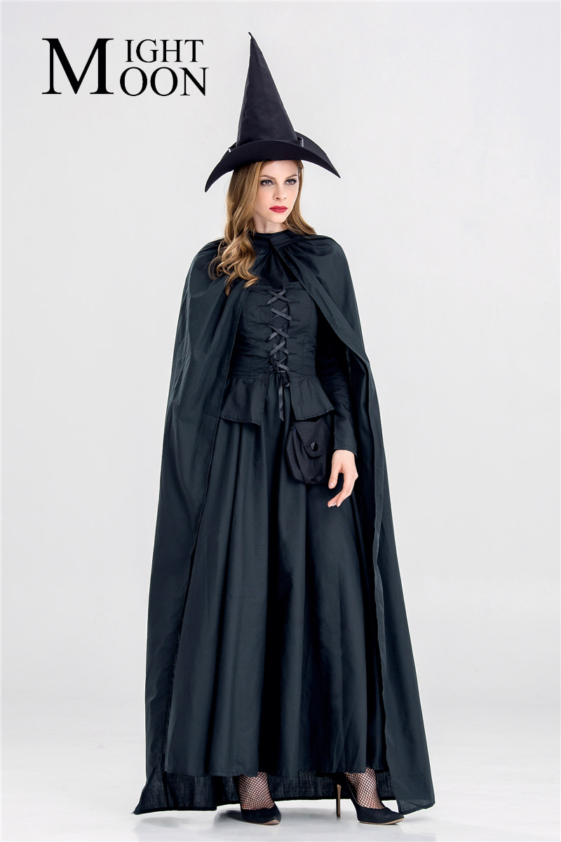 Moonight 2019 New Black Witch Costumes Party Adult Magic Moment Cosplay Halloween -4471