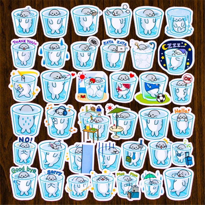 Hot Sale 40 Pcs Ice Bucket Small Poster Sticker Mixed Funny  Decals Luggage Laptop Car Styling /Eason Stickers/DIY Scrapbooking