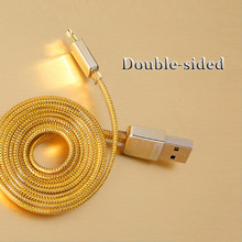 Golden HS 2.1A Durable Micro USB Data Sync Charging Cable Cords for Apple iPhone 5 6s 6 Plus Samsung Galaxy S4 S6 Android Phone