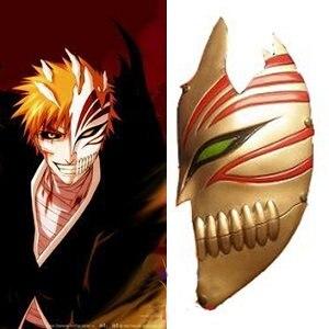 Bleach cosplay Kurosaki Ichigo bankai Half Hollow Mask (Golden) Cosplay Accessory For Halloween Party