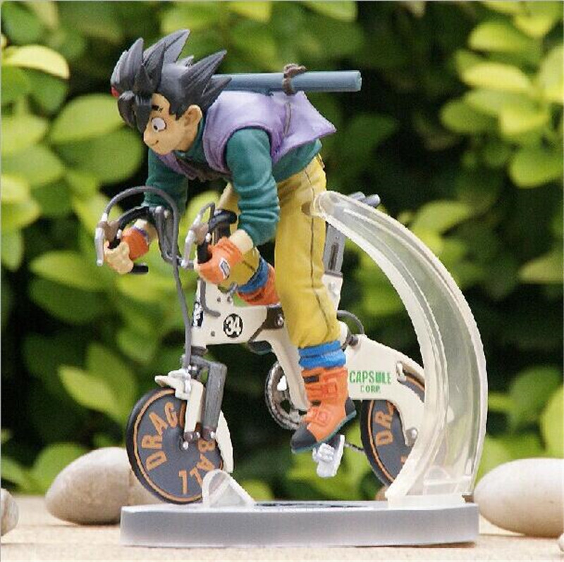 New Arrival Japan Anime Comic Akira Toriyama Dragon Ball Son Goku/Kakarotto Bicycle/Bike 16CM Figure Toys K294
